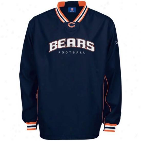 Bears Jackets : Reebok Bears Navy Blue Play Dry Hot Jackets