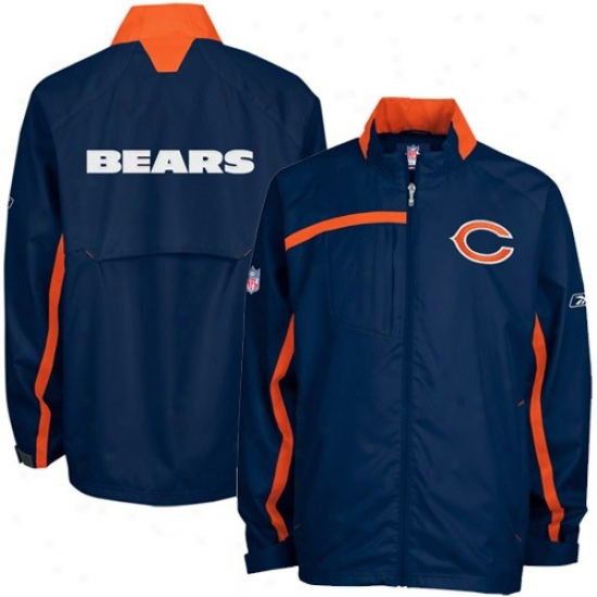 Bears Jackets : Reebok Bears Navy Blue Sentinel Full Zi Jackets