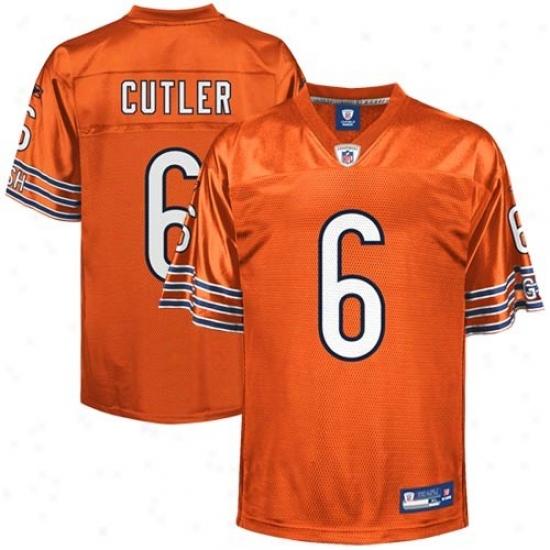 Bears Jersey : Rdebok Nfl Equipment Bears #6 Jay Cutler Orange Reploca Football Jersey