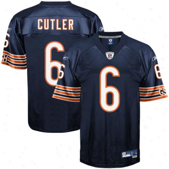 Bears Jerseys : Reebok Jay Cutler Bears Youth Premier Tackle Twill Jerseys - Navy Blus