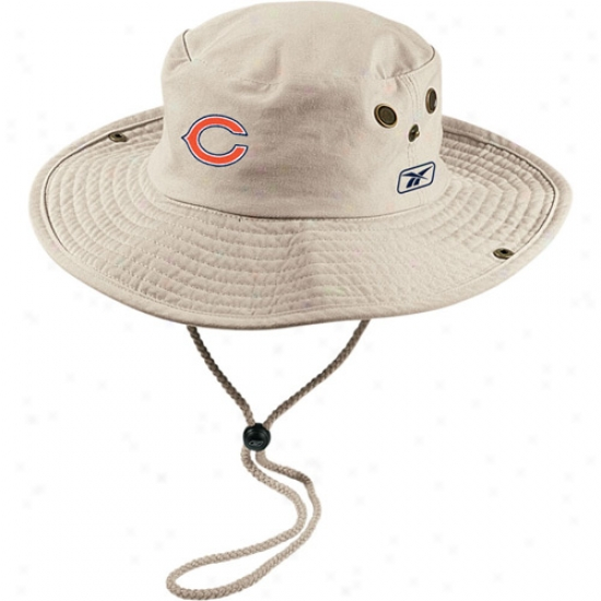 Bears Merchandise: Reebok Bears Khaki Sfari Fitted Hat