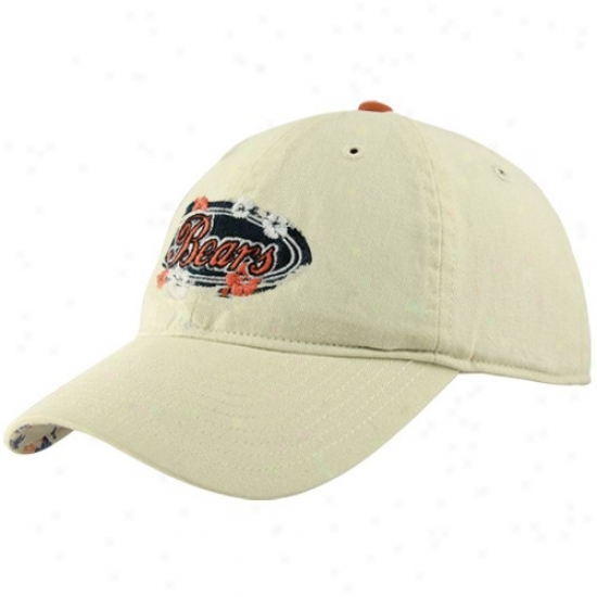 Bears Merchandise: Reebok Bears Ladies Tan Coastal Adjustable Hat