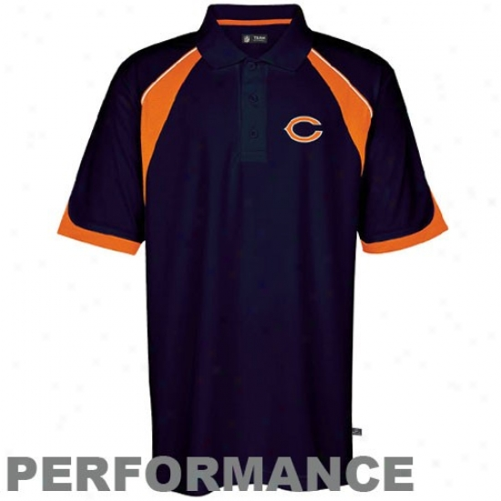 Bears Polo : Bears Navy Blue Field Elegant Acting Polo