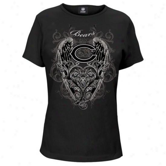 Bears Shirt : Bears Ladies Black Fingertip Grab Shirt