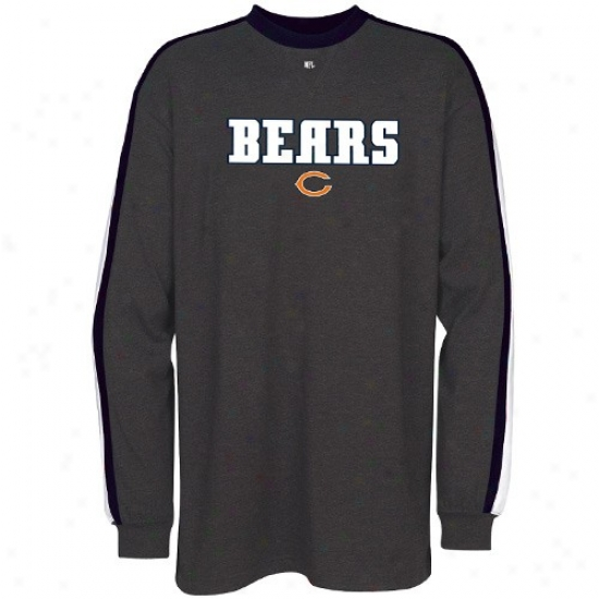 Bears Shirts : Bears Charcoal Victory Pride Long Sleeve Shirts
