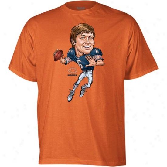 Bears Shirts : Reebok Bears #6 Jay Cutler Youth Orange Nfl Burlesque Shirts