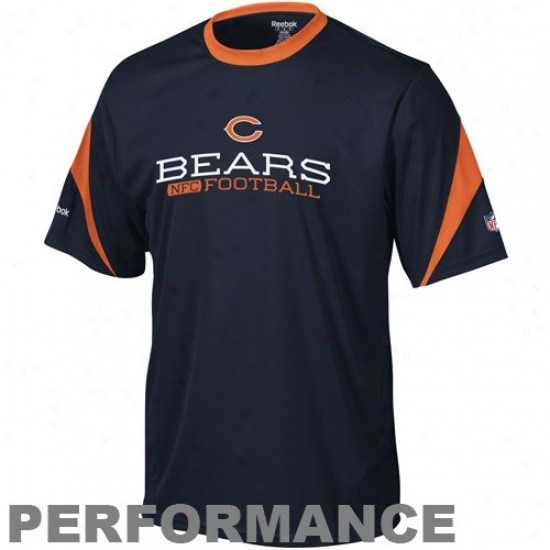 Bears Shirts : Reebok Bears Navt Blue Inverter Performance Shirts