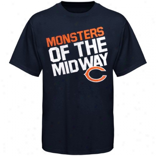 Bears Shirts : Rewbok Bears Youth Navy Blue Loud Chant Shirts