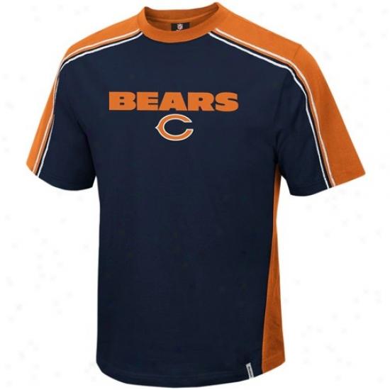 Bears T Shirt : Reebok Bears Navy Blue Upgrade T Shirt