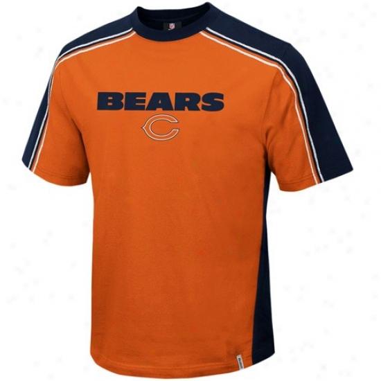 Bears Tees : Reebok Bears Orange Upgrade Tees
