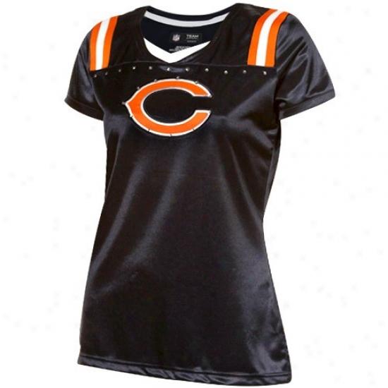 Bears Tshirt : Bears Ladies Navy Blue Draft Me Premium Tshirt