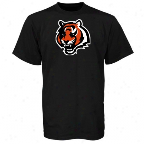 Bengals Attire: Reebok Bengals Mourning Logo Premier T-shirt