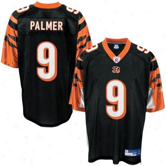 Bengals Jersey : Reebok Nfl Equipment Bengals #9 Carson Palmer Youth Black Replica Football Jersey