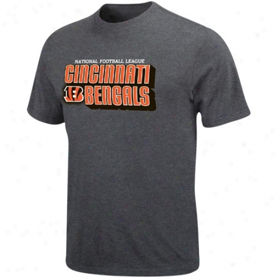 Bengals Shirts : Bengals Charcoal Defensive Front Heathered Shirts