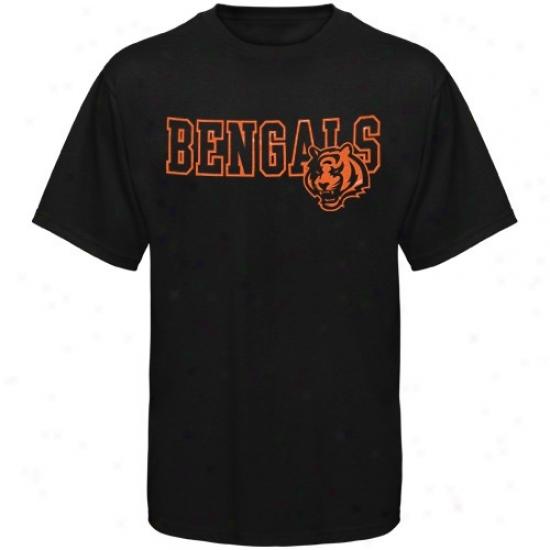 Bengals Tshirts : Reebok Bengals Black Fashion Tshirts