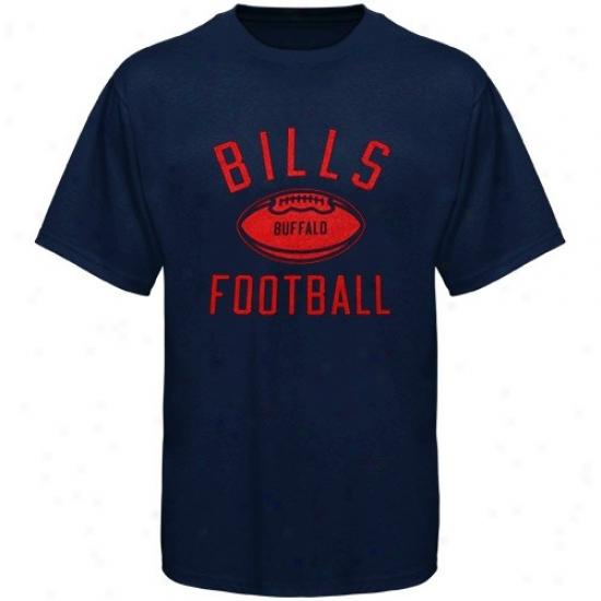 Bills Appaarel: Reebok Bills Youth Navy Blue Workout T-shirt