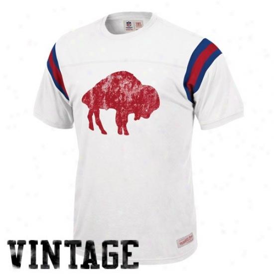 Bills Attire: Mitchell & Ness Bills White Afl Frwnchise Vintage T-shirt