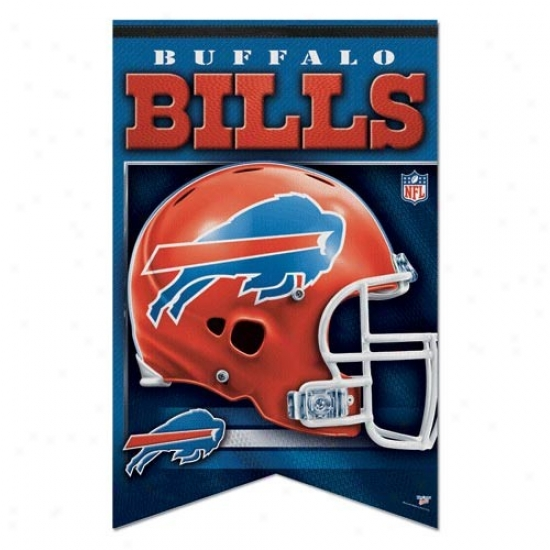 Bills Banner : Bills 17'' X 26'' Premium Quality Felt Banner