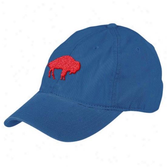 Bills Gear: Reebok Bille Royal Blue Retro Basic Logo Slouch Adjustable Hat