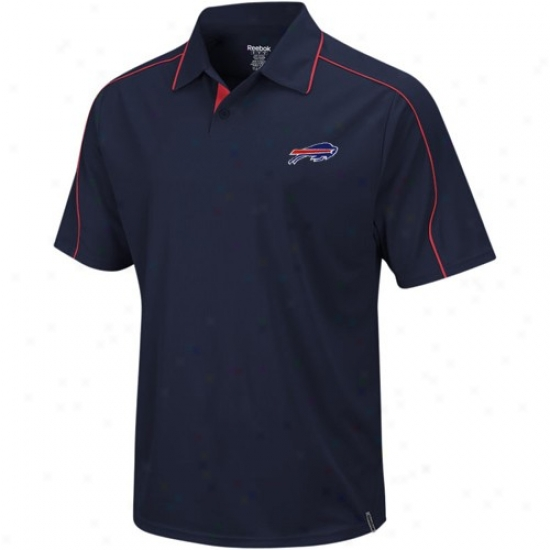 Bills Golf Shirts : Reebok Bills Navy Blue Active Golf Shirts