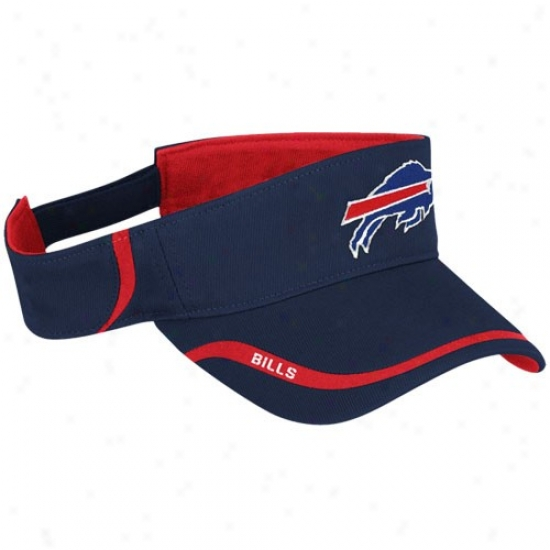 Bills Hat : Reebok Bills Navy Blue 2010 Coaches Adjustbale Visor