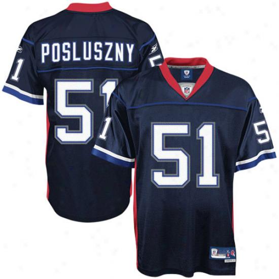 Bills Jerseys : Reebok Paul Posluznky Bills Premier Tackle Twill Jersey-navy Blue