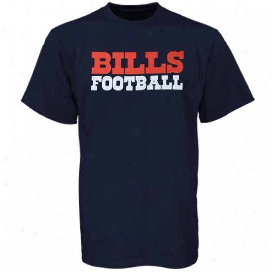 Billz T Shirt : Reebok Bills Navy Blue Wordplay T Shirt