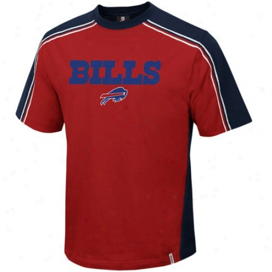 Bills Tshirt : Reebok Bills Red Upgrade Tshirt