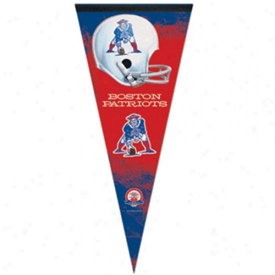 Boston Patriots Afl 17'' X 40'' Premium Felt Pennant
