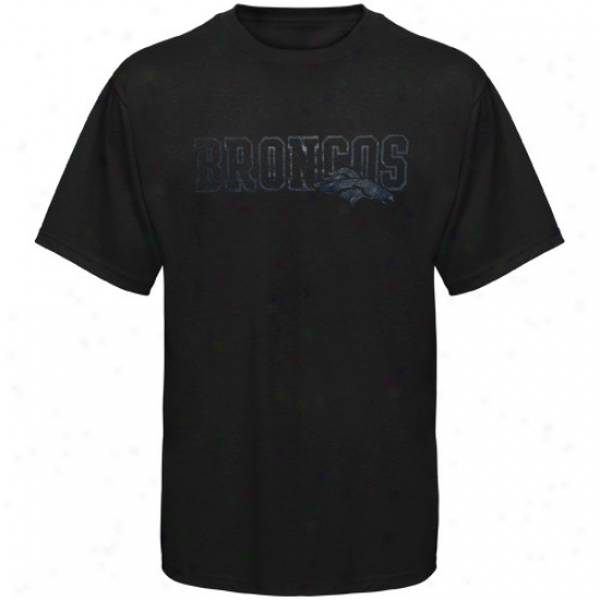 Broncos Attire: Reebok Broncos Black Fashion T-shirt