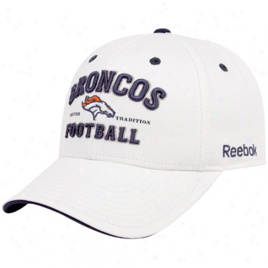 Broncos Cap : Reebok Broncos White Tradition Adjustable Cap