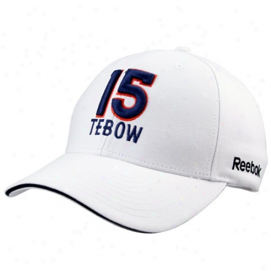Broncos Hats : Reebok Broncos #51 Tim Tebow White Adjustable Hats