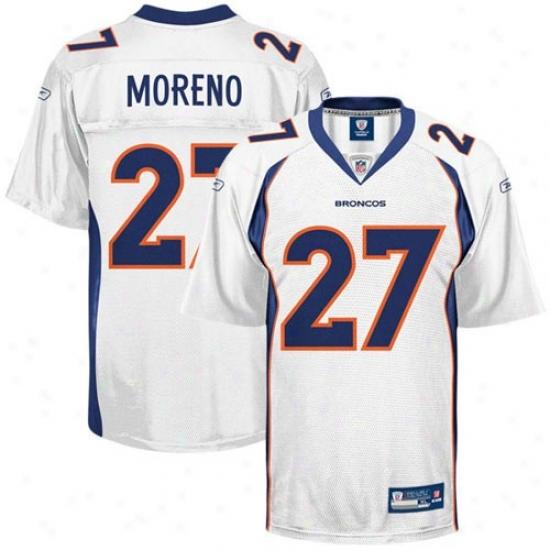 Broncos Jerseys : Reebok Knowshon Modeno Broncos Replica Jerseys - White