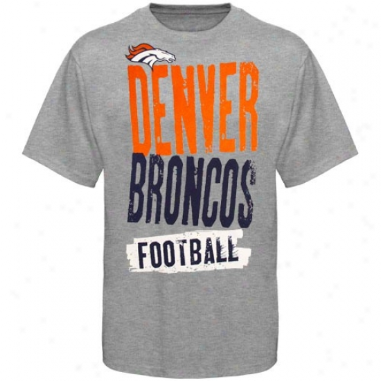 Broncos Shirt : Reebok Broncos Youth Ash Team Pride Shirt