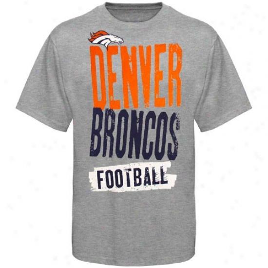 Broncos Shirt : Reebok Broncos Youth Ash Team Pride Shirt