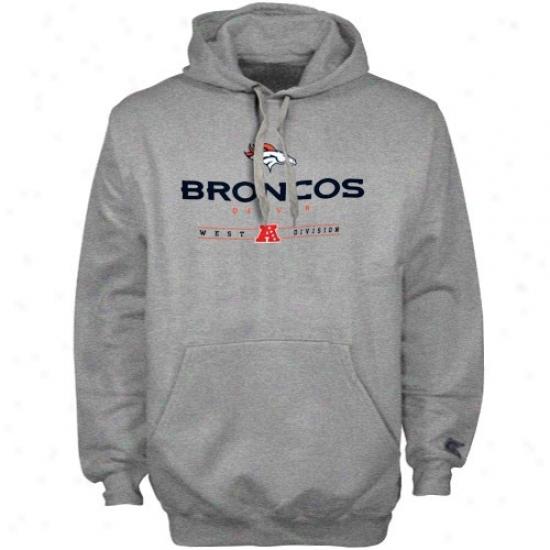 Broncos Sweatshirt : Broncos Ash Critical Victory Iv Sweatshirt