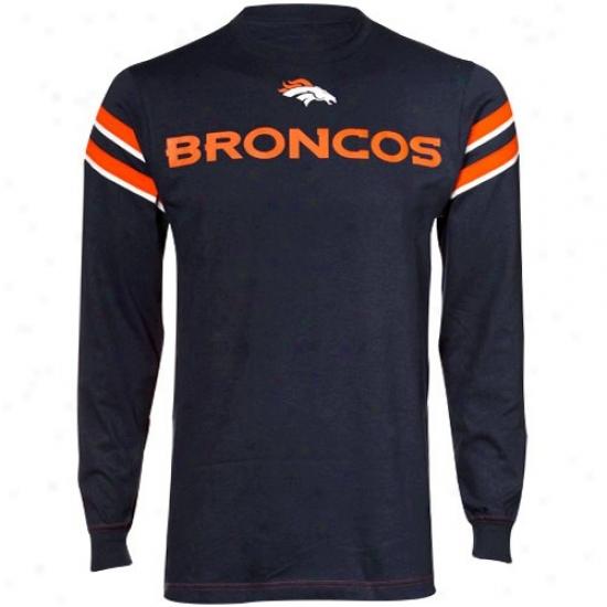 Broncos T Shirt : Broncos Navy Blue End Of The Line Ii T Shirt