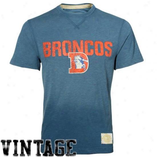 Broncos Tse : Reebok Broncos Royal Blue Legacy Vintage Rate above par Tee
