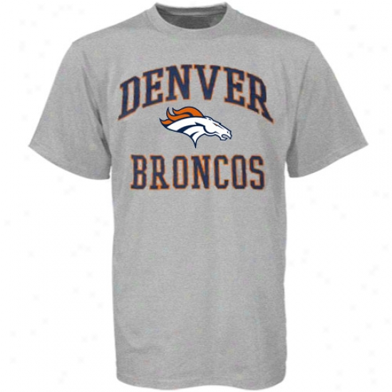 Broncos Tees : Broncos Ash Heart And Soul Tees