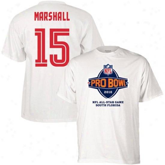 Broncos Tshirt : Reebok 2010 Pro Bel Broncos White #15 Brandon Marshall Player Tshirt