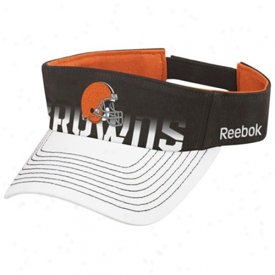 Browns Cap : Reebok Browns Brown-white Players Visor
