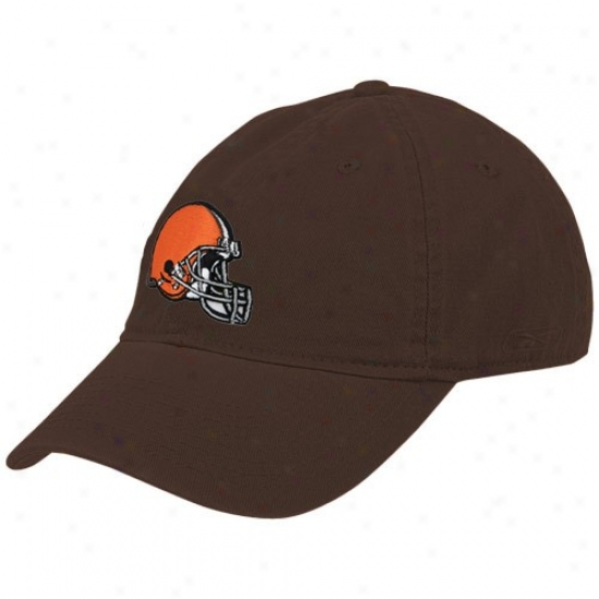 Browns Cap : Reebok Browns Ladies Brown Basic Logo Cap