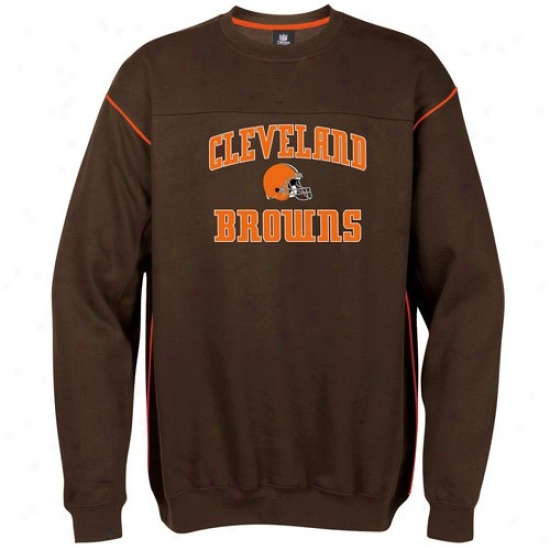 Browns Fleece : Browns Brpwn Classic Crew Strip