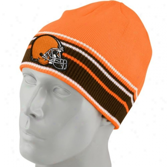 Browns Gear: Reebok Browns Orange Multi Team Colors Knit Beanie