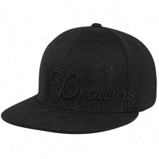 Browns Hats : Reebok Browns Black Fashion Flex Fit Hats