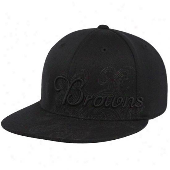 Browns Hats : Reebok Browns Black Fashion Flex Fit Hats