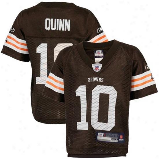Broens Jersey : Reebok Nfl Equipment Browns #10 Brady Quinn Toddler Brown Replica Football Jersey