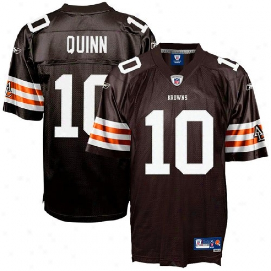 Browns Jerseys : Reebok Nfl Accoutrement Browns #10 Brady Quinn Brown Premier Tackle Twill Jerseys