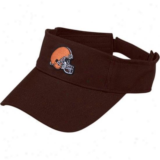 Browns Merchandise: Reebok Browns Brown Original Visor