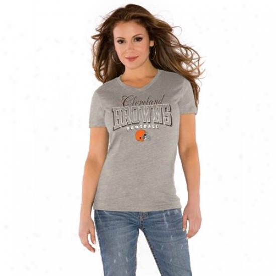 Browns Shirt : Touch By Alyssa Milano Browns Gray V-neck Trk-blend Shirt